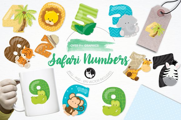 Safari Numbers Illustration Pack
