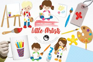 Little artists illustration pack