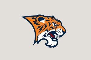 Tiger sport logotype.