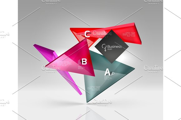 Triangle Layout Business Template Infographic Background