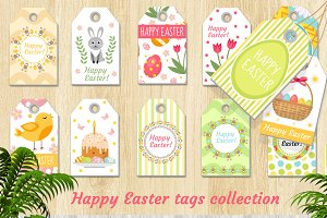 Cute Easter tags set