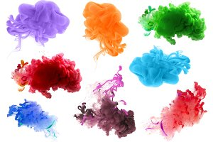 acrylic color blots