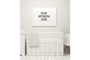 Nursery Frame Mockup White Theme