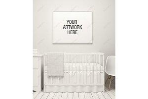 Nursery Frame Mockup White Theme