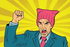 Angry retro politician feminist