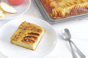 Slices of apple tart