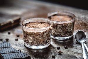 Coffee and cream dessert