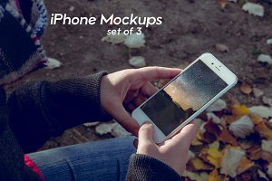 3 White iPhone 6/7 Mockups + Filters