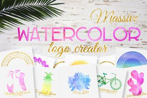 Massive watercolor logo creator