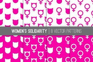 Women's March Vector Patterns