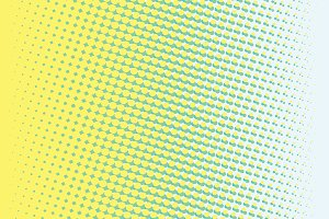 Abstract yellow green gradient pop art retro background