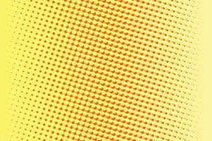 Abstract yellow red gradient pop art retro background