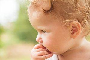 Baby girl portrait outdoor