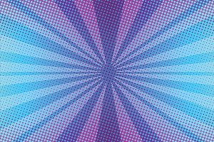 Violet rays pop art background