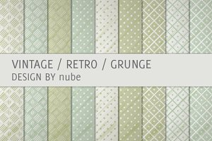 9 Vintage Retro Pattern Backgrounds