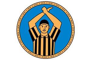 American Football Umpire Hand Signal