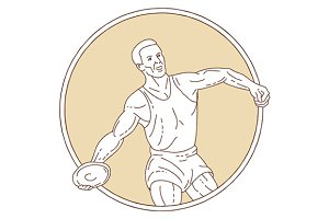 Track and Field Discus Thrower