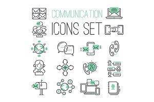Communication network icons vector illustration.