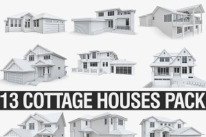 13 Cottage Houses Pack