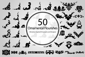 50 Ornamental Flourishes (Vector)
