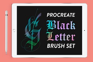 Procreate | Blackbletter Brush Set