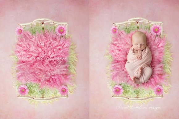 Newborn Photography Digital Backdrops