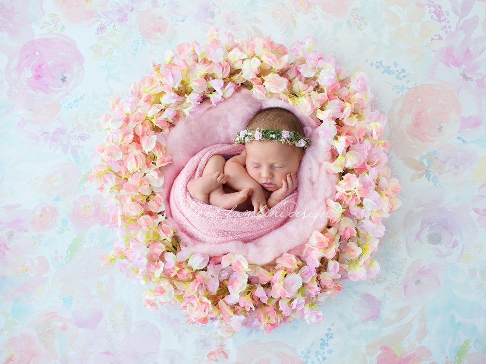 Newborn photography digital backdrop layer styles creative market