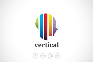 Vertical Mind Logo Template