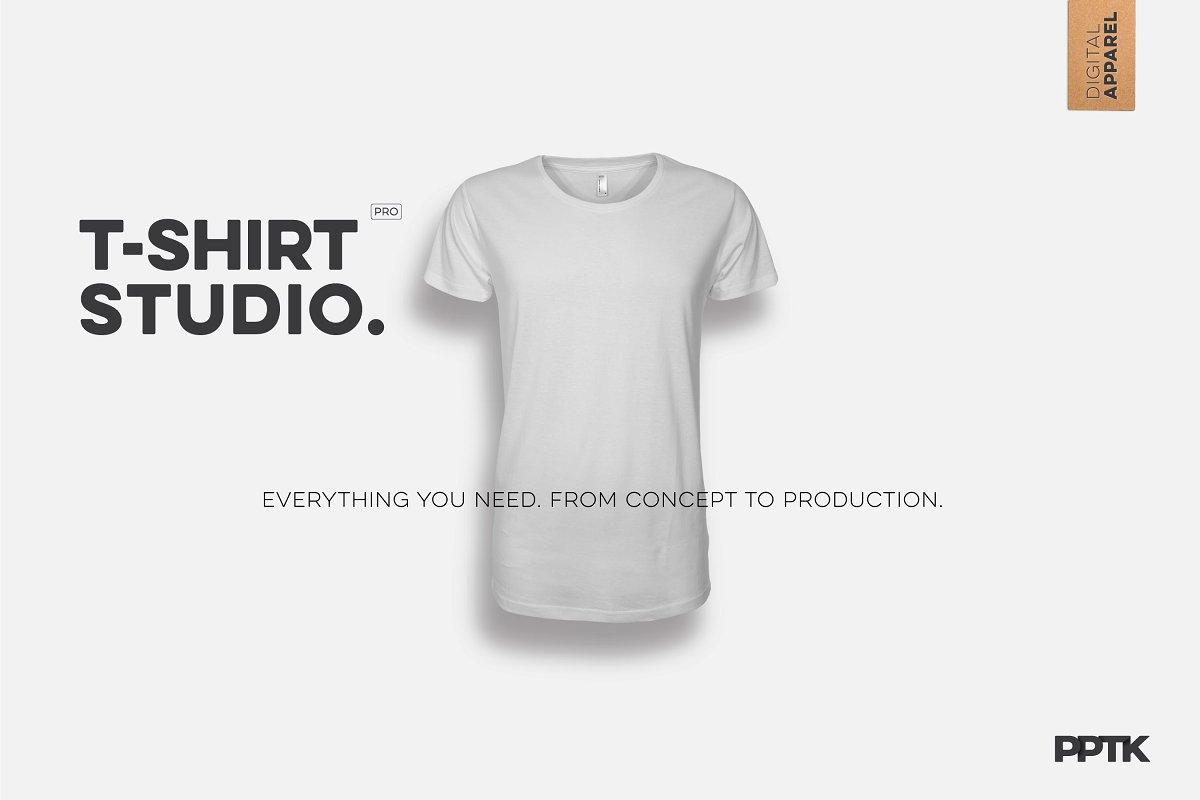 aa078445 T-Shirt Studio Pro ~ Product Mockups ~ Creative Market