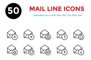Mail Line Icons