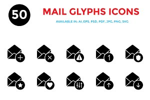 Mail Glyphs Icons
