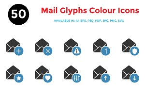 Mail Colour Glyphs Icons