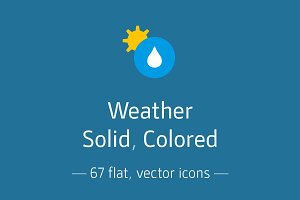 Weather, Solid  - Icon Pack