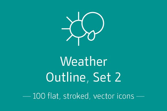 Weather, Outline, Set 2- Icon Pack