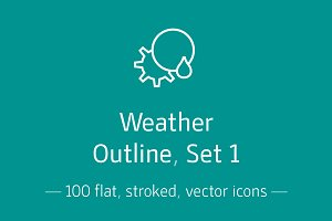 Weather, Outline, Set 1 - Icon Pack