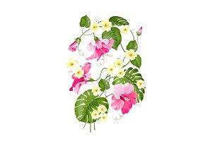 Floral garland card.