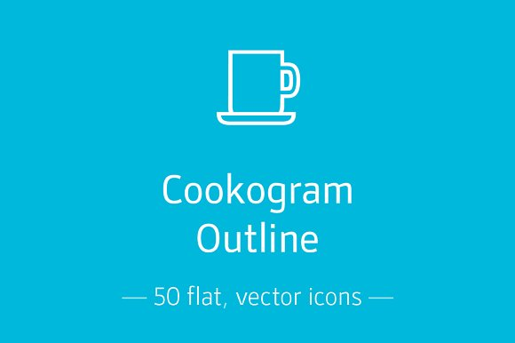 Cookogram, Outline - Icon Pack in Graphics
