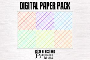 Digital Paper-Pastel Plaid