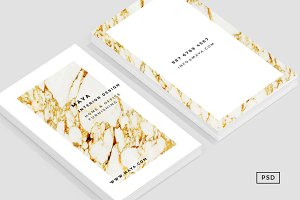 Gold Marble Business Card Template