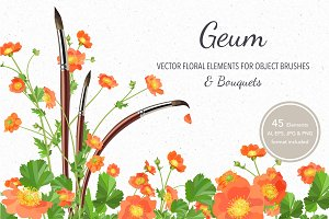 Vector object brushes. Geum.