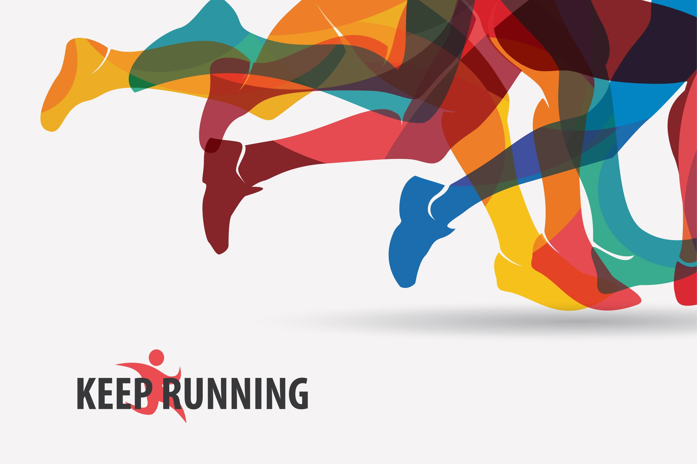 Set Of Running And Sport Backgrounds