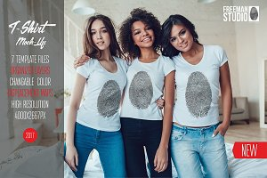 Women's T-Shirts Mock-Up Vol.1 2017