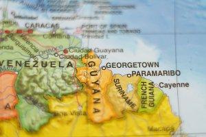 Guyana country map .
