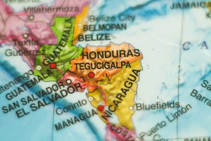 Honduras country map .