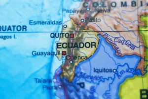 Republic of Ecuador country map .