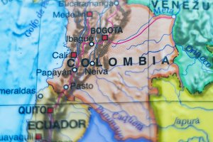 Colombia country map .