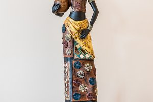 Africa figurine girl on table