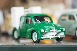 Retro green sport toy car