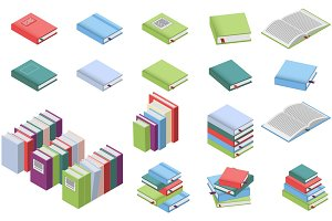 Isometric books set