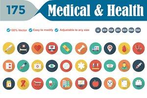 Flat Circle Shadow Medical & Health